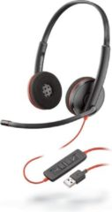 Plantronics Bedraad USB Headset Blackwire C3220 Over het hoofd Noise Cancelling met Microfoon Zwart, rood