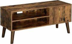 Trend24 - Tv meubel - Tv kast - Tv meubel rustiek bruin - Tv kast meubel - 110 x 40 x 49,5 cm - Rutiek bruin