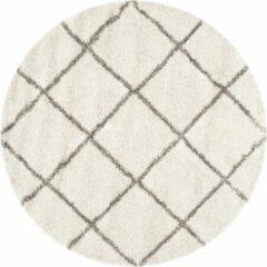 Grijze Safavieh Hedendaags Ronde Vloerkleed, SGH281