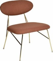 Bruine Svenlars Fauteuille Loung Chair Queen Gold/Clay Brown Steel & Cotton