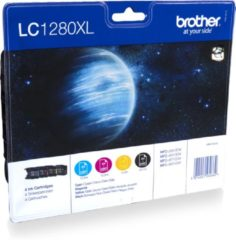 Zwarte Brother LC-1280XL - Inktcartridges / Zwart / Cyaan / Magenta / Geel / Hoge Capaciteit