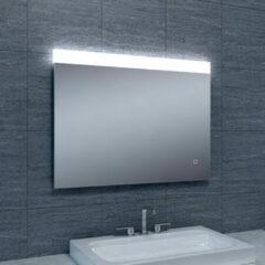 Douche Concurrent Badkamerspiegel Single 80x60cm Geintegreerde LED Verlichting Verwarming Anti Condens Touch Lichtschakelaar Dimbaar
