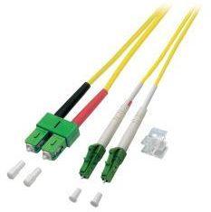 EFB Elektronik O0387.2 Glasvezel Aansluitkabel [1x LC/APC 8°-stekker - 1x SC/APC 8°-stekker] 9/125 µ Singlemode OS2 2.00 m