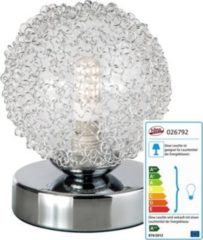 Nino-Leuchten LED-Tischleuchte Ryder, chrom, Höhe 11 cm