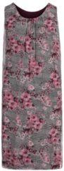 Casual-Kleid mit Blumenprint Cartoon Weiß/Schwarz - Weiß