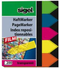 Indexeringsstrookjes Sigel Film 60x45 pijl 5-kleurig 200 vel SI-HN613