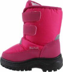 Playshoes snowboots klittenband uni fuchsia