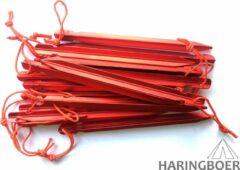 Rode Haringboer 18cm 7075-T6 aluminium Y-tentharing - Tentharingen inclusief haringzak - 16 haringen
