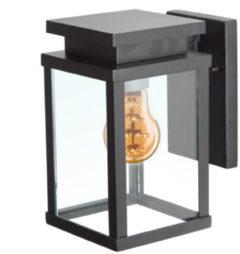 Zwarte KS Verlichting K.S. Verlichting Jersey Wandlamp Zwart - 22 cm