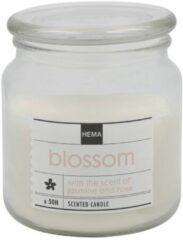 HEMA Geurkaars In Glazen Pot Ø9.5 Blossom (transparant)