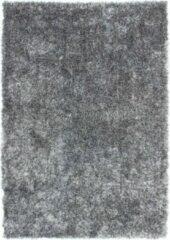Diamond Soft Fluweel Vloerkleed Grijs Hoogpolig- 160 CM Rond