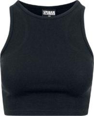 Urban Classics Ladies Cropped Rib Top Top donna nero