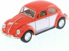 1967 Volkswagen Classic Beetle (Oranje) 1/36 Kinsmart - Modelauto - Schaalmodel - Model auto - Miniatuurauto - Miniatuur autos