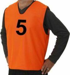 Pirotti Trainingshesjes Met Nummer Oranje 15 Stuks Maat M