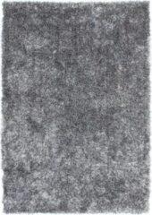 Diamond Soft Fluweel Vloerkleed Grijs Hoogpolig- 120 CM Rond