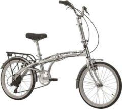 Cicli Cinzia 20 ZOLL CINZIA CAR BIKE KLAPPFAHRRAD ALUMINIUM 6-GANG Klapprad silber