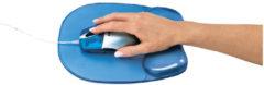 Muismat met polssteun Fellowes gel transparant blauw