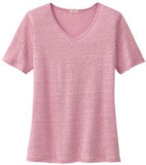 Enna Linnen T-shirt met V-hals, rozenhout 44/46