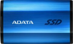 Blauwe SSD 1TB ADATA Portable SE800 USB3.2 extern Kit blue rt