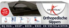 Lucovitaal Orthopedische Slipper Zwart Maat 39-40 - 2x1 paar - Voordeelverpakking