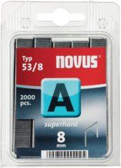 Nietjes type 53 2000 stuks Novus 042-0356 Klemtype 53/8 superhard Afm. (l x b) 8 mm x 11.3 mm