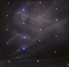 Lichtnet Buiten 24 V Energielabel: A (A++ - E) 120 LED Bont (b x h) 150 cm x 250 cm Konstsmide
