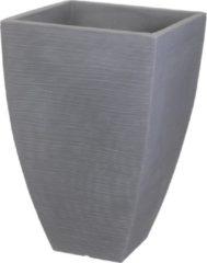 Groene Koopman Bloempot Geribbeld hoog quadr 40cm