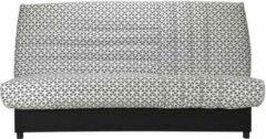 Anders BEIJA 3-zits slaapbank - Comfort BULTEX - B 192 x D 95 cm - Witte en zwarte stof