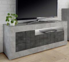 Pesaro Mobilia Tv-meubel Urbino 138 cm breed in grijs beton met oxid