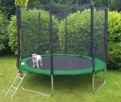 Viking Sports Trampoline 305 cm groen - met veiligheidsnet & ladder - tot 120 kg