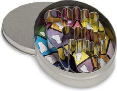 Zilveren Patisse Set uitsteekvormen rvs in doos 3 dlg.