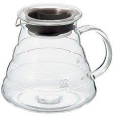 Transparante Hario V60 Range Server 600 Clear Glas - 600ml