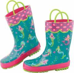 Stephen Joseph - Regenlaarzen voor meisjes - Zeemeermin - Turquoise/Pink - maat 30EU