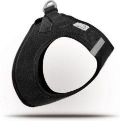 Bruine Curli Vest Cord hondentuigje - 3XS - Zwart