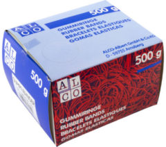 Naturelkleurige Elastieken Alco 150x4mm natuur - kartonnen doos 500 gram
