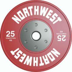 Rode Northwest Premium Competitie Halterschijf | 25 KG