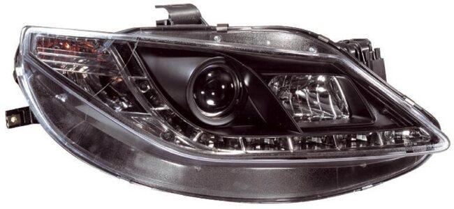 Afbeelding van AutoStyle Set Koplampen incl. DRL passend voor Seat Ibiza 6J 3/5-deurs 2008-2012 - Zwart
