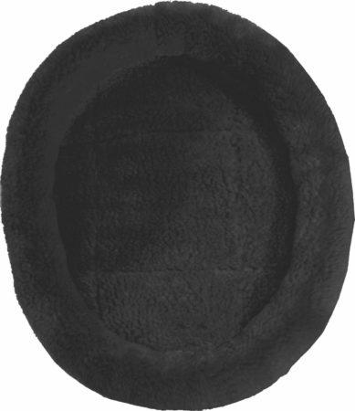 Afbeelding van Zwarte Gebr. de Boon Gebr de Boon kat slaapmand 48 cm zwart