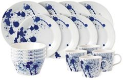 Blauwe Royal Doulton Pacific 16 Piece Set Splash (4 x Plate 28cm. Plate 23cm. Bowl 15cm. Mug).