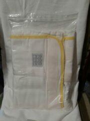 Pacco Comodo Inbakerdoek - vanaf 7 kg - wit met gele rand
