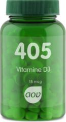 AOV 405 Vitamine D3 (15 mcg) 180 tabletten - Vitaminen - Voedingssupplementen