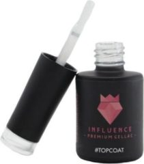 Influence - Premium Gellac Influence Gellac #TOPCOAT - No Wipe - UV / LED Gellak - Gel nagellak - Gel lak - Toplaag / Transparant - 10 ml