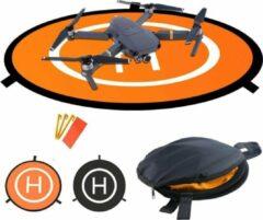 Oranje Merkloos / Sans marque Landing Pad Drone - 75 cm - Waterproof - Opvouwbaar - 2 Kleuren