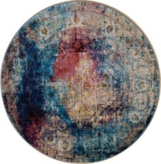 Impression Rugs Picasso Heriz Vintage Rond Vloerkleed Multi / Blauw Laagpolig - 133 CM ROND
