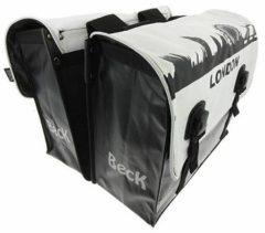Witte Beck Classic Londen dubbele fietstas 46 liter