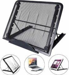 Opline Laptopstandaard, opvouwbare draagbare laptopstandaard met verstelbare hoek voor MacBook-notebooks Laptoplaptops tot 15,6 inch-zwart