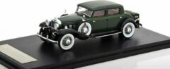 Donkergroene Stutz DV32 Monte Carlo Sedan By Weymann 1933 Dark groen 1-43 Neo Scale Models