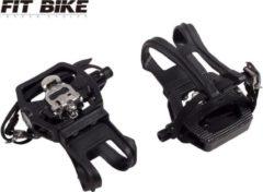 Zwarte Pedalen FitBike - SPD Combi - voor FitBike spinningfietsen