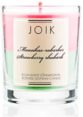 Roze JOIK geurkaars Strawberry & rhubarb
