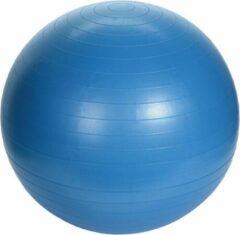 Merkloos / Sans marque Grote blauwe fitnessbal/yogabal inclusief pomp 75 cm sport fitnessartikelen - Fitness/sport artikelen - Homegym producten